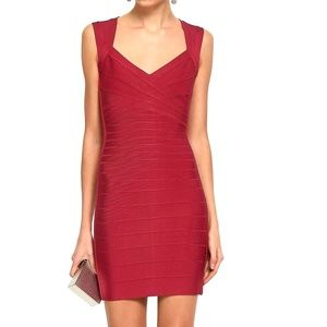 NWT Authentic Herve Leger Red Bandage Dress S